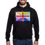 Rainbow British Flag Hoodie (dark)