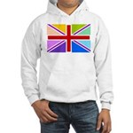 Rainbow British Flag Hooded Sweatshirt