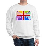 Rainbow British Flag Sweatshirt