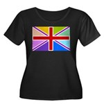 Rainbow British Flag Women's Plus Size Scoop Neck