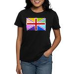 Rainbow British Flag Women's Dark T-Shirt
