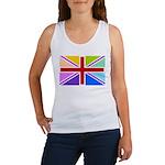 Rainbow British Flag Women's Tank Top
