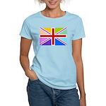 Rainbow British Flag Women's Light T-Shirt