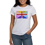 Rainbow British Flag Women's T-Shirt
