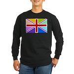 Rainbow British Flag Long Sleeve Dark T-Shirt