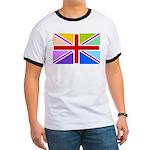 Rainbow British Flag Ringer T