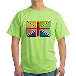 Rainbow British Flag Green T-Shirt