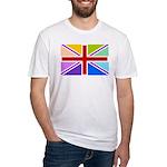 Rainbow British Flag Fitted T-Shirt