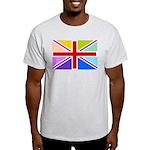 Rainbow British Flag Light T-Shirt