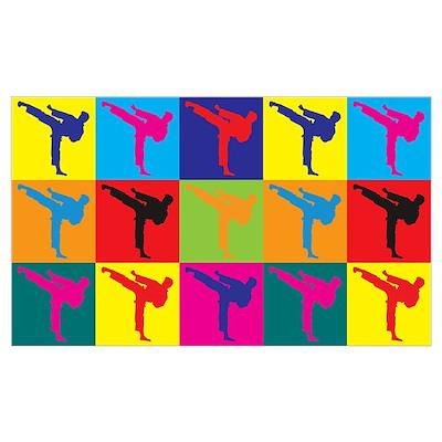 Martial Arts Pop Art Wall Art Poster
