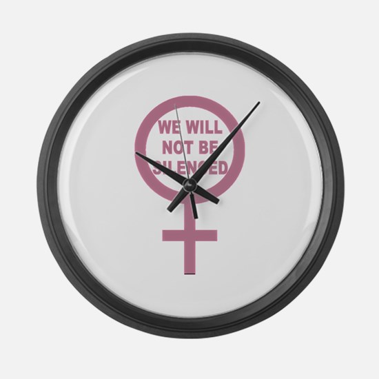 We Will Not be Silenced Large Wall Clock