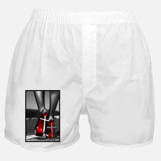 Red High Heels Boxer Shorts