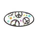 Peace symbols and flowers pat Patches
