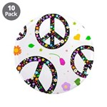 Peace symbols and flowers pat 3.5