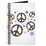 Peace symbols and flowers pat Journal