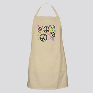 Peace symbols and flowers pat Apron