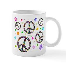 Peace symbols and flowers pat Mug