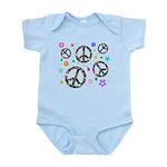 Peace symbols and flowers pat Infant Bodysuit