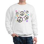 Peace symbols and flowers pat Sweatshirt