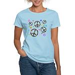 Peace symbols and flowers pat Women's Light T-Shir