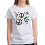 Peace symbols and flowers pat Women's T-Shirt