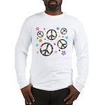 Peace symbols and flowers pat Long Sleeve T-Shirt