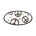 Peace signs and hearts patter Patches