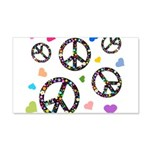 Peace signs and hearts patter 22x14 Wall Peel
