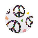 Peace signs and hearts patter 3.5