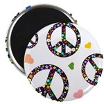 Peace signs and hearts patter Magnet