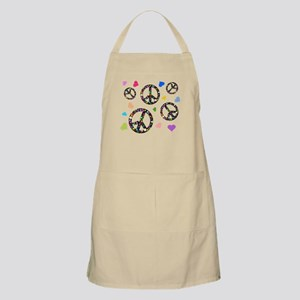Peace signs and hearts patter Apron