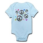 Peace signs and hearts patter Infant Bodysuit