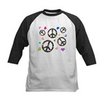 Peace signs and hearts patter Kids Baseball Jersey