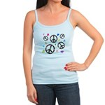Peace signs and hearts patter Jr. Spaghetti Tank