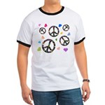 Peace signs and hearts patter Ringer T