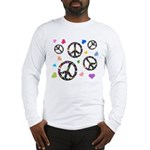 Peace signs and hearts patter Long Sleeve T-Shirt