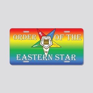 OES Rainbow Aluminum License Plate