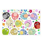 Cute Cartoon Owls and flowers Postcards (Package o