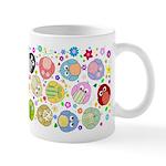 Cute Cartoon Owls and flowers Mug