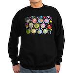 Cute Cartoon Owls and flowers Sweatshirt (dark)
