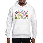 Cute Cartoon Owls and flowers Hooded Sweatshirt