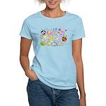 Cute Cartoon Owls and flowers Women's Light T-Shir