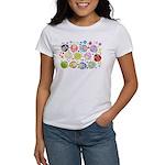 Cute Cartoon Owls and flowers Women's T-Shirt