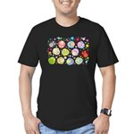 Cute Cartoon Owls and flowers Men's Fitted T-Shirt