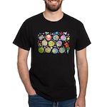 Cute Cartoon Owls and flowers Dark T-Shirt
