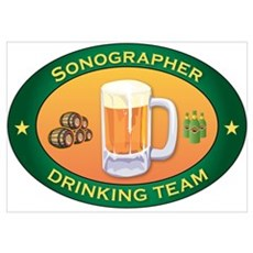 Sonographer Team Wall Art Poster