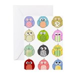 Cute Owls Greeting Cards (Pk of 10)