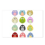 Cute Owls Postcards (Package of 8)