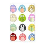 Cute Owls Mini Poster Print