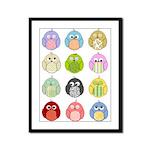 Cute Owls Framed Panel Print